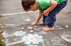 Home made sidewalk chalk