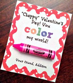 I knew these crayon chapsticks would be perfect for Valentine's Day! I'm so glad that I bought them when I did!