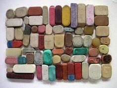 Ana Tuominen, just got to love an orderly collection of beaten up things...reminds me, where the hell is my collection of scented erasers from 3rd grade...