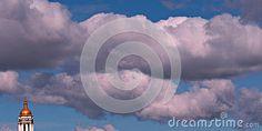 Blue, Cloudy Skies over Kyiv, Ukraine, Pechersk Lavra