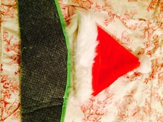 10f48262c18 I used the left over fur edge from the green to sew to my Santa hat