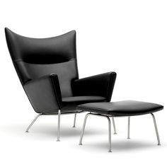 The Wing Chair. Designed by Hans J. Wegner in 1960  #carlhansenandson  Grab this furniture in  miniature version here:  https://www.shapeways.com/shops/irfhan?section=Designer%27s+Chair&s=0