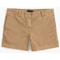 "J.Crew 4"" Stretch Chino Short ($64) ❤ liked on Polyvore featuring shorts, tailored shorts, short shorts, summer shorts, chino shorts and stretchy shorts"