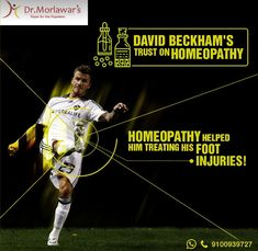 David Beckham used Homeopathy for a broken foot prior to the 2002 World Cup Broken Foot, Homeopathic Medicine, Sports Medicine, Homeopathy, David Beckham, Wordpress, Science, Celebrities, Sepia Homeopathy