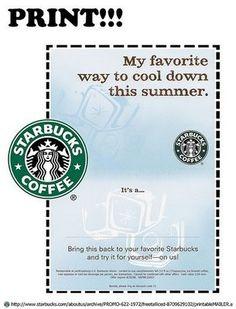 starbucks coupon savings for june printable coupons free printables starbucks gift card grocery