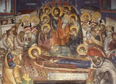 londinoupolis: Hymns for the Dormition of the Mother of God Religious Paintings, Religious Art, Blessed Mother Mary, Byzantine Icons, Orthodox Christianity, Orthodox Icons, Illuminated Manuscript, Christian Faith, Love Art