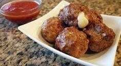 Cheese Stuffed Meatballs A La Pizzaiola Recipe Video by Thindulge Low Sodium Recipes, Gf Recipes, Low Calorie Recipes, Cookbook Recipes, Greek Recipes, Snack Recipes, Delicious Recipes, Recipies, Cooking Recipes