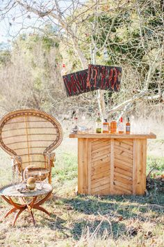 whiskey bar for guests // photo by Tyler Branch Photo // styling by laceandlikes