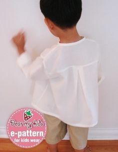 Détendu des modèles de chemise de plage 6 ans 12 par dmkeasywear