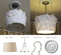 Felted Friends: Upcycled Nursery Chandelier | via The Honest Company blog