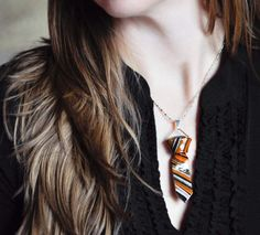 Fashion Necktie Necklace Ring Set So Sexy in Orange by CreaShines on Etsy