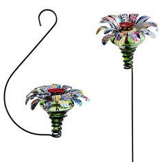 Upcycled hummingbird feeder! - cute!