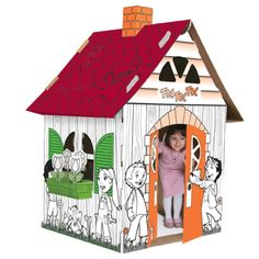Children's Cardboard Playhouses from Cascades - give the kids a fun playhouse that they can decorate themselves! #indigo #perfectsummer