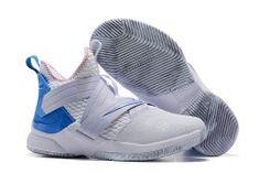 8addd2e0fc8a Nike LeBron Soldier 12 Men s Basketball Shoes White Blue