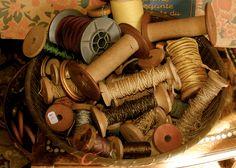 Antique Spools of Thread...