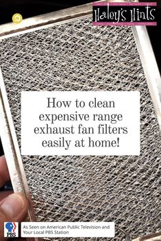 Clean Your Stove Top Ranger Filter. Don't purchase a new range exhaust fan filter when it get greasy, clean those expensive filters quickly at home.