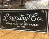 Laundry Co. Wood Sign - Farmhouse - Modern - Home Decor - Joanna Gaines - Farmhouse Style - Laundry Room