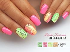 Want some ideas for wedding nail polish designs? This article is a collection of our favorite nail polish designs for your special day. Sns Nails Colors, Bright Nails, Neon Nails, Pastel Nails, My Nails, Manicure, Shellac Nails, Nail Polish, Cute Nails