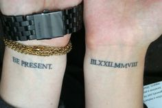19 Meaningful Wrist Tattoos With Words – Wrist Designs Believe Wrist Tattoo, Love Wrist Tattoo, S Tattoo, Wrist Tattoos Quotes, Initial Wrist Tattoos, Meaningful Word Tattoos, Roman Numeral Tattoos, Roman Numerals, Cool Tribal Tattoos