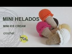Crocheted Ice Cream Tutorial and pattern, not the one pictured though. Very cute. Great tutorial