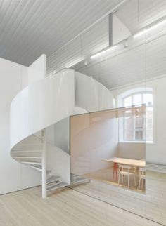 Ingenious optical illusions in interior office No Picnic by the Swedish Architects