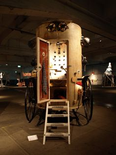 olaf mooij upcycles found materials into a mobile artist's studio