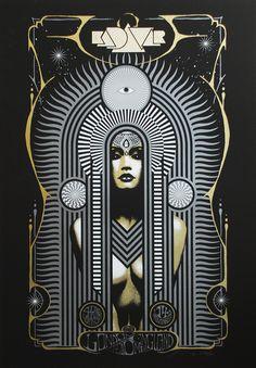 Adam Pobiak Kadavar London Poster and Melvins & Graveyard Handbills Release