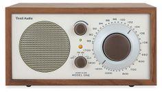 I really love the simple design of this! I have it and plug my iPad into it for music or just use the radio.  Tivoli Model One AM/FM Radio - Tivoli Audio - Room & Board