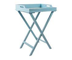 Mesa bandeja de madera DM - azul