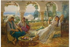 View ON THE TERRACE by Frederick Arthur Bridgman on artnet. Browse upcoming and past auction lots by Frederick Arthur Bridgman. Art Institute Of Chicago, Arabian Nights, Art Plastique, North Africa, Art Market, American Artists, Cool Artwork, Art For Sale, Oil On Canvas