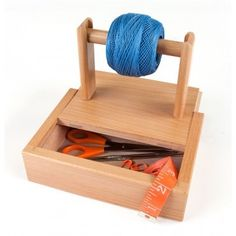 Sierra Pacific Crafts Yarn Holder with Storage Yarn Crafts For Kids, Craft Stick Crafts, Arts And Crafts, Knitting Storage, Yarn Storage, Crochet Yarn, Knitting Yarn, Knitting Room, Knitting Needles
