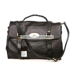 a6df093ca3 Mulberry Women s Alexa Leather Satchel Bag Black Mulberry Outlet