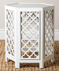 Another great find on #zulily! White Britney Mirrored End Table by Abbyson Living #zulilyfinds