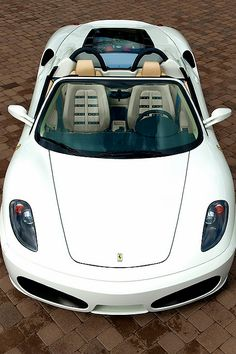♂ ferrari car white