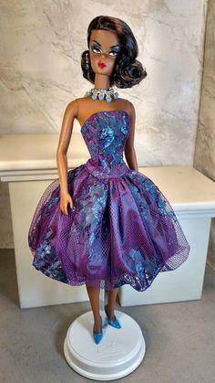 Metallic Chantilly Teal fits Silkstone Barbie