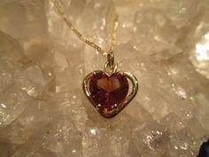 Oregon Sunstone Heart Necklace 14K Gold Handmade by GoldConspiracy
