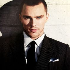Nicolas Hoult with some little facial hair