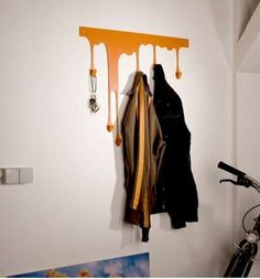 Fake 3D Paint Drips Julian Appelius Creates Colorful Dripping Coat Hangers