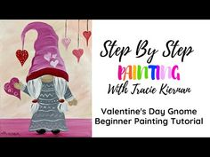 Canvas Painting Tutorials, Acrylic Painting For Beginners, Step By Step Painting, Beginner Painting, Painting Videos, Girl Gnome, Cuadros Diy, Couple Crafts, Couple Painting
