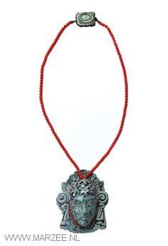 Vera Siemund - necklace, 2009, copper, silver, coral, enamel - 65 x 75 x 30 mm
