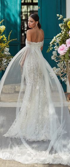 Sensational off the shoulder lace wedding dress by Galia Lahav Couture Bridal - Fall 2018 - Florence by Night - Juniper