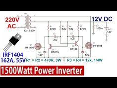 How to make inverter 12v dc to 220v ac? making circuit ...