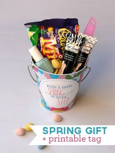 Cheer up your friend with all the summer essentials inside this cute bucket. You can design the bucket in your own way using craft items.