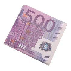 Personality 500/100 Euro Bill Wallet Men Pockets Card Letter Short Wallet Bifold PU Vintage Wallet Purse