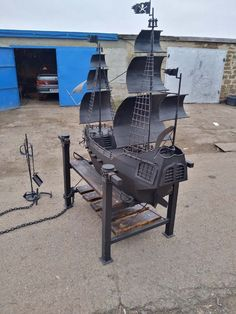 Barbecue Grill, Grilling, Drafting Desk, Metal Art, Outdoor Decor, Furniture, Welding, Home Decor, Bar Grill