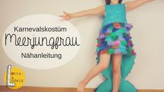 DIY Meerjungfrau Kostüm für Kinder nähen You are in the right place about No Sew Tutu costumes Here we offer you the most beautiful pictures about the No S Homemade Mermaid Costumes, Mermaid Costume Kids, Tutu Costumes, Woman Costumes, Couple Costumes, Pirate Costumes, Group Costumes, Adult Costumes, Halloween Costumes