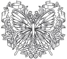 Butterfly Free Printable Coloring Pages Make your world more colorful with free printable coloring pages from italks. Our free coloring pages for adults and kids. Printable Adult Coloring Pages, Coloring Book Pages, Coloring Sheets, Colorful Drawings, Colorful Pictures, Butterfly Coloring Page, Doodles, Mandala Coloring, Embroidery Patterns