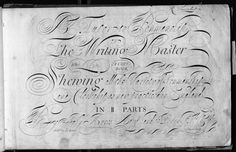The calligraphy was written by John Ayres and engraved by John Sturt (who taught George Bickham to engrave). The scans are on Flickr here: