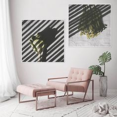 Where would you hang this wall art print set? 🌿 I love this combination between clean whites with pops of green and blush pink. Floral Wall, Floral Prints, Wall Art Prints, Framed Prints, Grey Wall Art, Art Prints For Home, Nature Prints, Fine Art Photography, Nature Photography