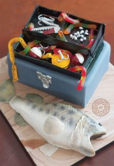 Fish and Tacklebox Cake